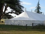 Traditional marquee at the cricket ground Goodwood House