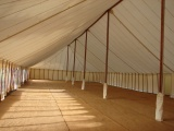 Interior of traditional marquee, Goodwood cricket ground