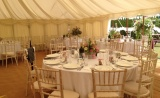 Interior traditional canvas marquee
